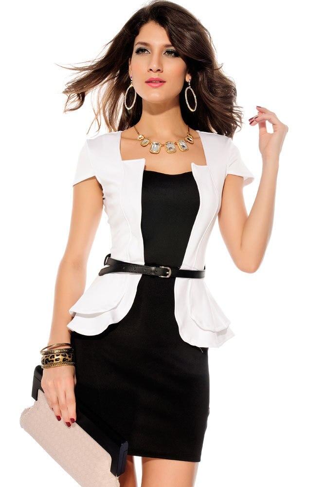 Купить Черно Белое Платье В Интернет Магазине