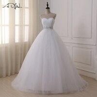 ADLN Stock Wedding Dresses Vestidos de novia Sweetheart Sweep Train Lace Applique Corset Wedding Dress Gowns Robe De Mariage