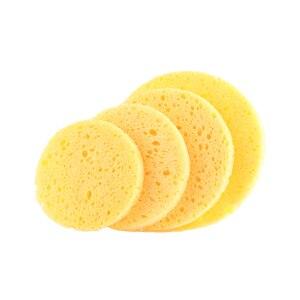 3 шт. натуральная древесная масса губка для отшелушивания лица Губка целлюлоза круглый инструмент для очистки лица сжатие слойки инструменты для очистки макияжа