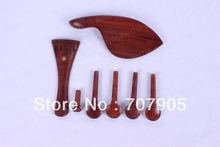 New 3x saitenhalter + ebenholzkinnhalter + stachel + 12x pegs Palisander Shell inlay Teile 4/4