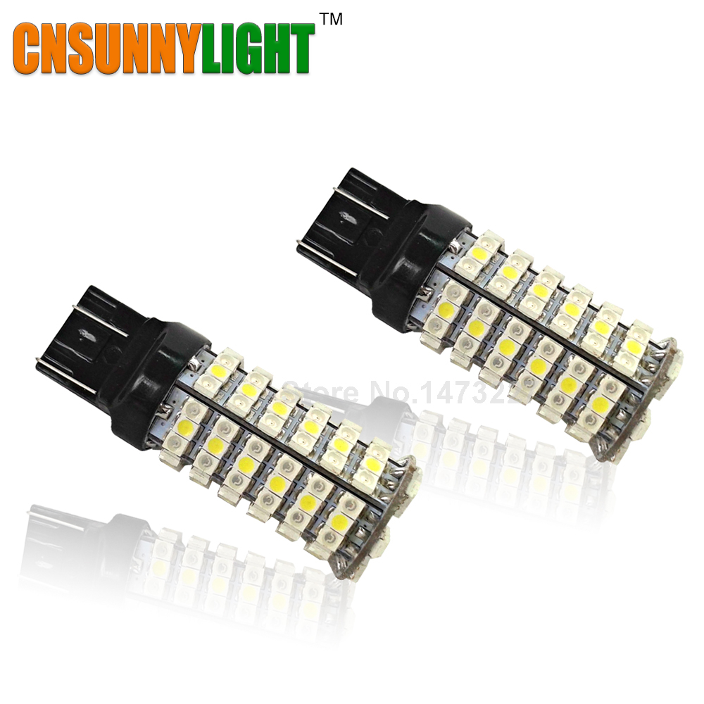 CNSUNNYLIGHT W21/5W 7443 T20 LED 120SMD 3528 Backup Reverse Signal Lights White/Amber Switchback Car Brake Rear Stop Bulbs 2pcs brand new high quality superb error free 5050 smd 360 degrees led backup reverse light bulbs t15 for jeep grand cherokee