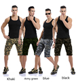 Men camouflage Shorts  2016 Men Casual Cargo Shorts men Camo Cargo Shorts Military Camouflage Short