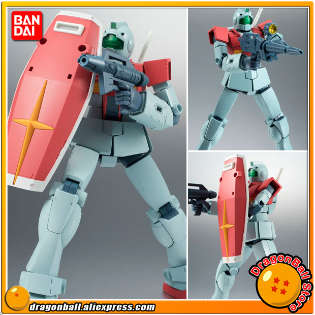 Anime Mobile Suit Gundam Original BANDAI Tamashii Nations Robot Spirits No. 209 Action Figure - RGM-79 GM ver. A.N.I.M.E. cozoy rei mini dac headphone amplifier dsd256 32bit 384khz