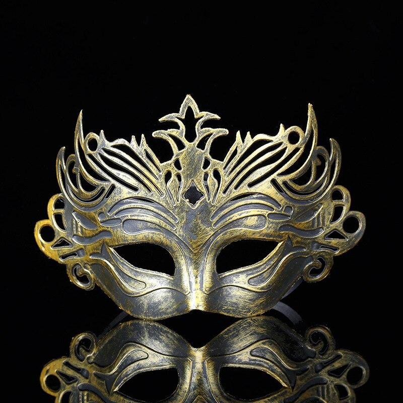 Римские солдаты мужские филигранные лазерная резка мужские венецианские маскарадные маски для глаз для вечерние ринки Хэллоуин косплей Ма...
