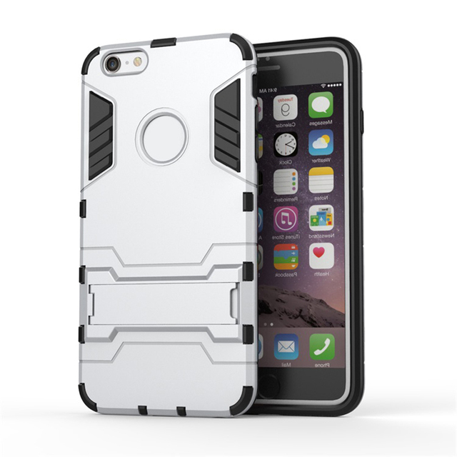 wholesale dealer a0af9 548b8 US $12.55 |Extreme Shockproof Drop proof multilayer Protection holder stand  Iron Man Armor case for iphone 5 5s 5c 6 6s plus drop shipping on ...