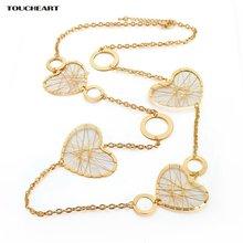 Toucheart романтические длинные эффектные ожерелья и кулоны