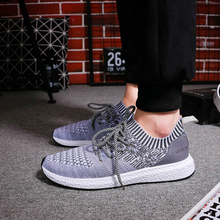 Men Shoes Men Casual Shoes Summer Breathable Lace up Flats Fashion Light Male Footwear Big Size 35-44