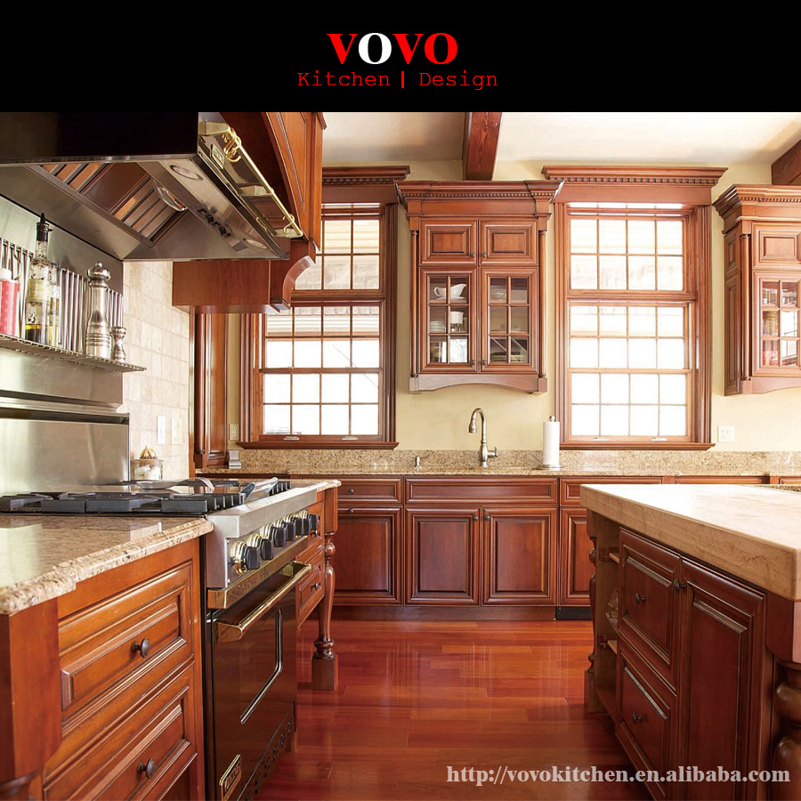 Solid Glass Backsplash Kitchen: Granite Backsplash Kitchen With Solid Wood Door And Glass