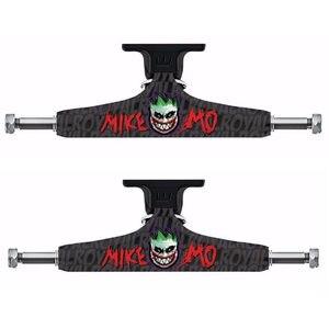 """Image 1 - ロイヤル 2 個黒スケートボードトラック 5.25 """"ミドル中空トラックスケートボードブリッジスケートデッキアルミスケートボードブラケット"""