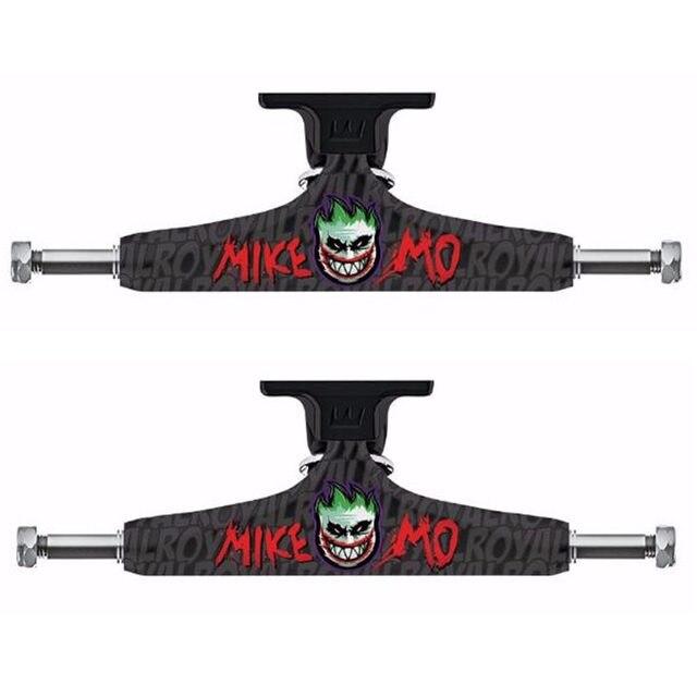 لوح تزلج أسود مكون من قطعتين من Royal شاحنة تزلج مفرغة وسطى 5.25 لوح تزلج لمنصة تزلج من الألومنيوم
