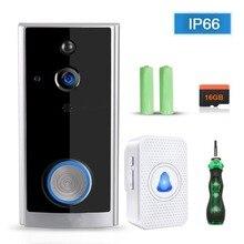Умный wifi видео дверной звонок 720 P HD Беспроводная дверная камера Противоугонная батарея водостойкий дверной звонок включает беспроводной звонок
