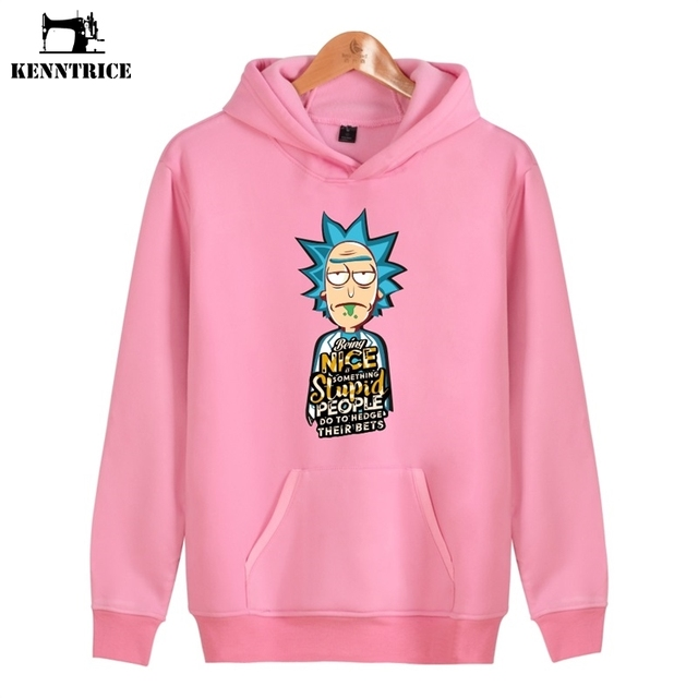 860f5ac81 KENNTRICE Friends Hoodie Sweatshirt Pink Couple Hoodies Men Rick And Morty  Nice Stupid Hip Hop Sweatshirts Men Women Rick Morty