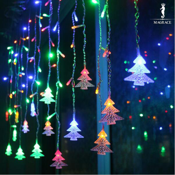 Fairy 3.5m 96 Led Christmas Tree Garland String Lights Icicle Curtain Lights New Year Holiday Wedding Party Decoration