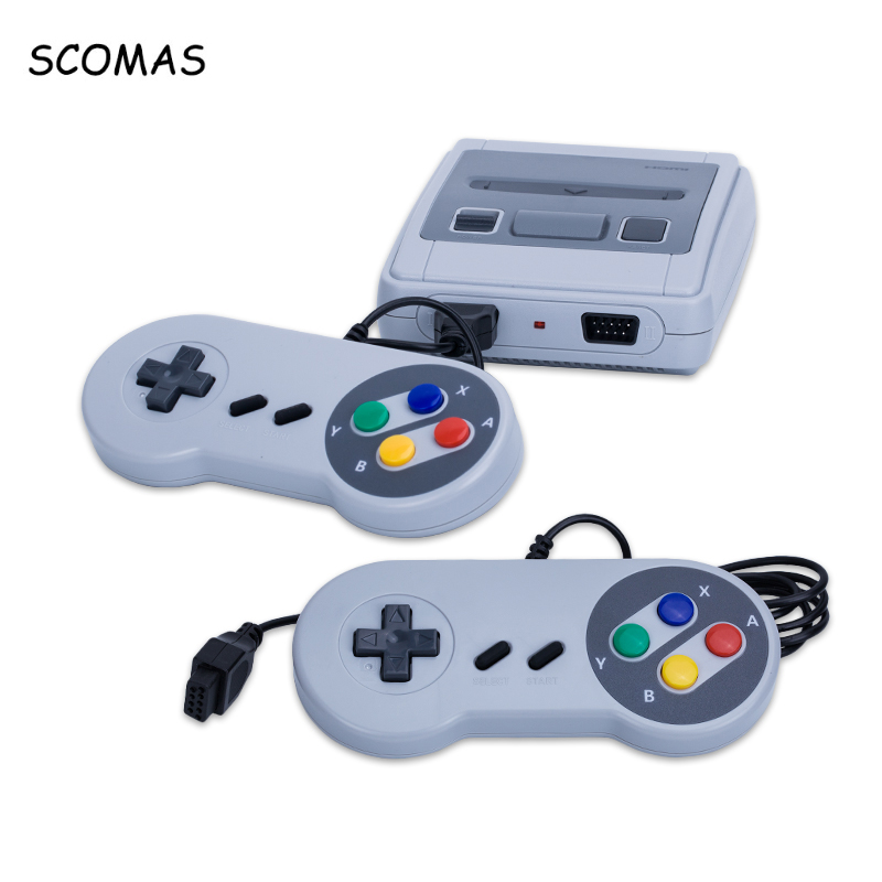 SCOMAS 8 Bits HDMI Mini Rétro Jeu Vidéo Consoles Intégré 621 Jeux De Poche Famille Double Gamepad de Jeu Console pour Garçon lecteur