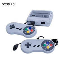 SCOMAS 8 Bits HDMI Mini Retro Game Video Consoles Built-in 621 Games Handheld Family Dual Gamepad Gaming Console for Boy Player
