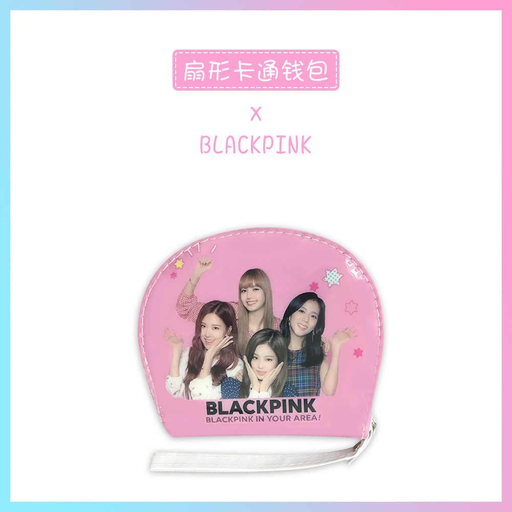 Blackpink שחור ורוד רוכסן Walletlisa ג 'ני עלה Jisoo אחסון ארנק ארנק כרטיס תיק Keychain קטן מטבע שקיות ורוד Kpop K -פופ