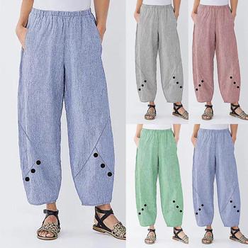 Spodnie damskie szerokie nogawki Plus Size damskie spodnie w pasie z wysokim stanem spodnie z kieszeniami luźne spodnie damskie spodnie tanie i dobre opinie ISHOWTIENDA Poliester Pełnej długości Yoga Pants Stałe Na co dzień Szerokie spodnie nogi Plisowana Kieszenie Fałszywe zamki