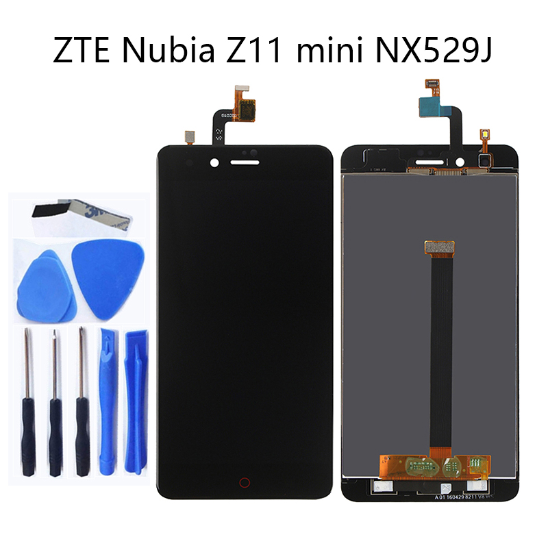 For ZTE Nubia Z11 Mini NX529j 5.0'' new LCD + touch screen digitizer components black and white 100% tested + logistics tracking-in Mobile Phone LCD Screens from Cellphones & Telecommunications