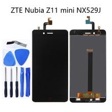 สำหรับ ZTE Nubia Z11 Mini NX529j 5.0 LCD ใหม่ + หน้าจอสัมผัส digitizer ส่วนประกอบสีดำและสีขาว 100% ทดสอบ + logistics ติดตาม