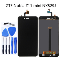 대 한 ZTE 누비아 Z11 Mini NX529j 5.0 의 2 새 LCD + touch screen 디지타이저 components black 과 white 100% 테스트 + 물류 추적