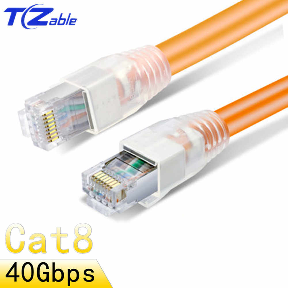hight resolution of cat8 rj45 cable 8p8c 40g 2000mhz ethernet cable home router high speed network jumper internet