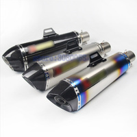 470mm Universal 51mm Carbon Fiber Akrapovic Motorcycle Exhaust Muffler Pipe Escape For Benelli300 600 502 MT