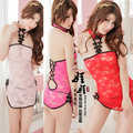 sexy bodysuit uniform nightwear for Women Sexy lingerie babydoll costume chinese robes sexy lingerie cheongsam exotic apparel