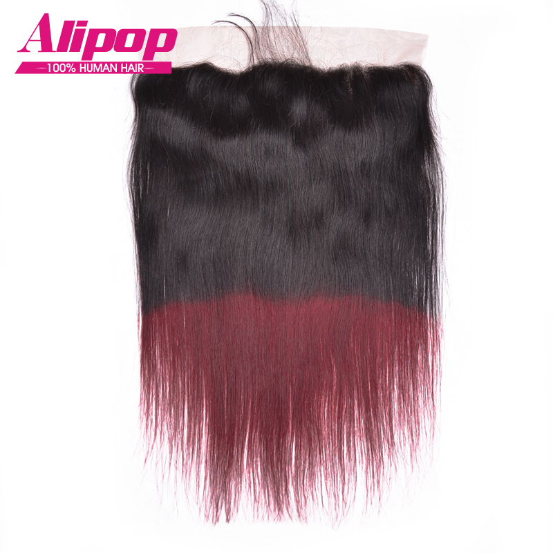 ФОТО 7A Brazilian Virgin Hair Straight Lace Closure13x4Lace Frontal Closure Ear To Ear TIB/99J Human Hair Lace Frontal Bleached Knots