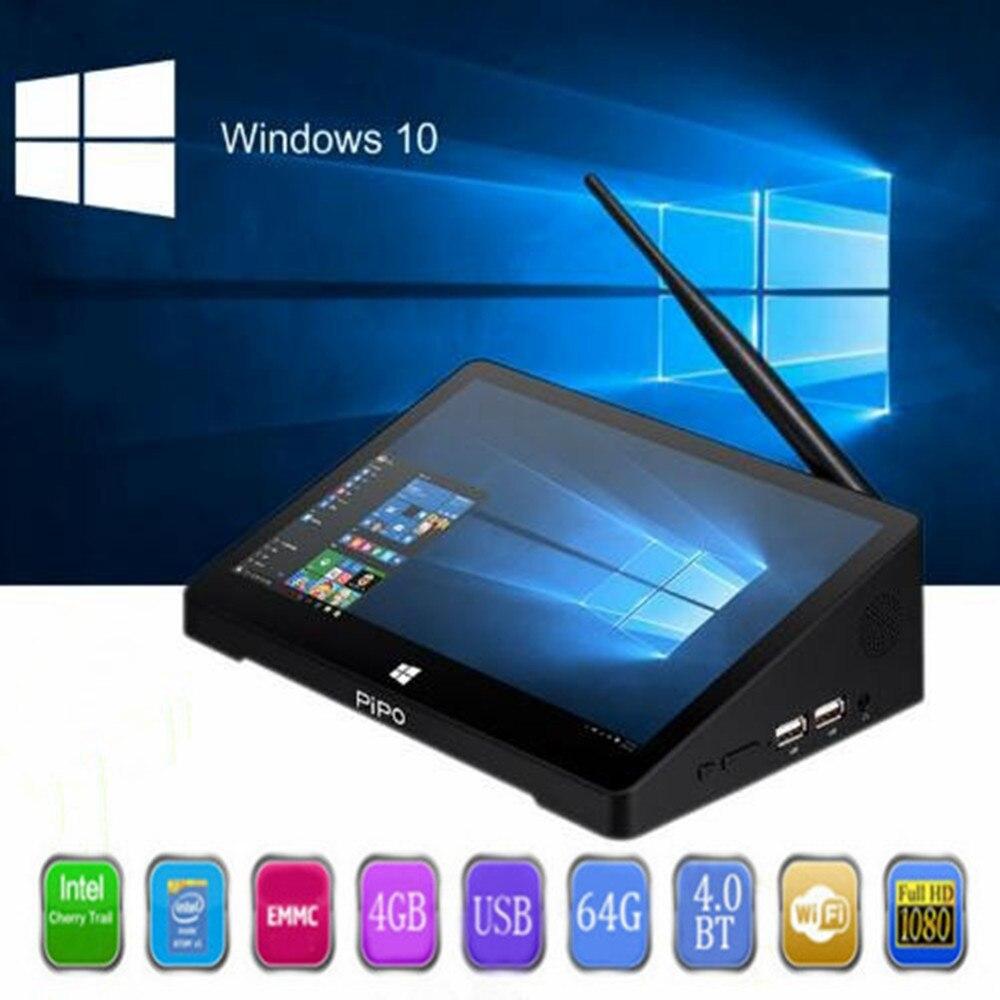 PIPO X10 Pro Mini PC Finestre 10 & Andriod 5.1 Mini PC Intel Cherry Trail Z8350 4g 64g 10.8 pollice Tablet PC 2.4g WiFi Media Player