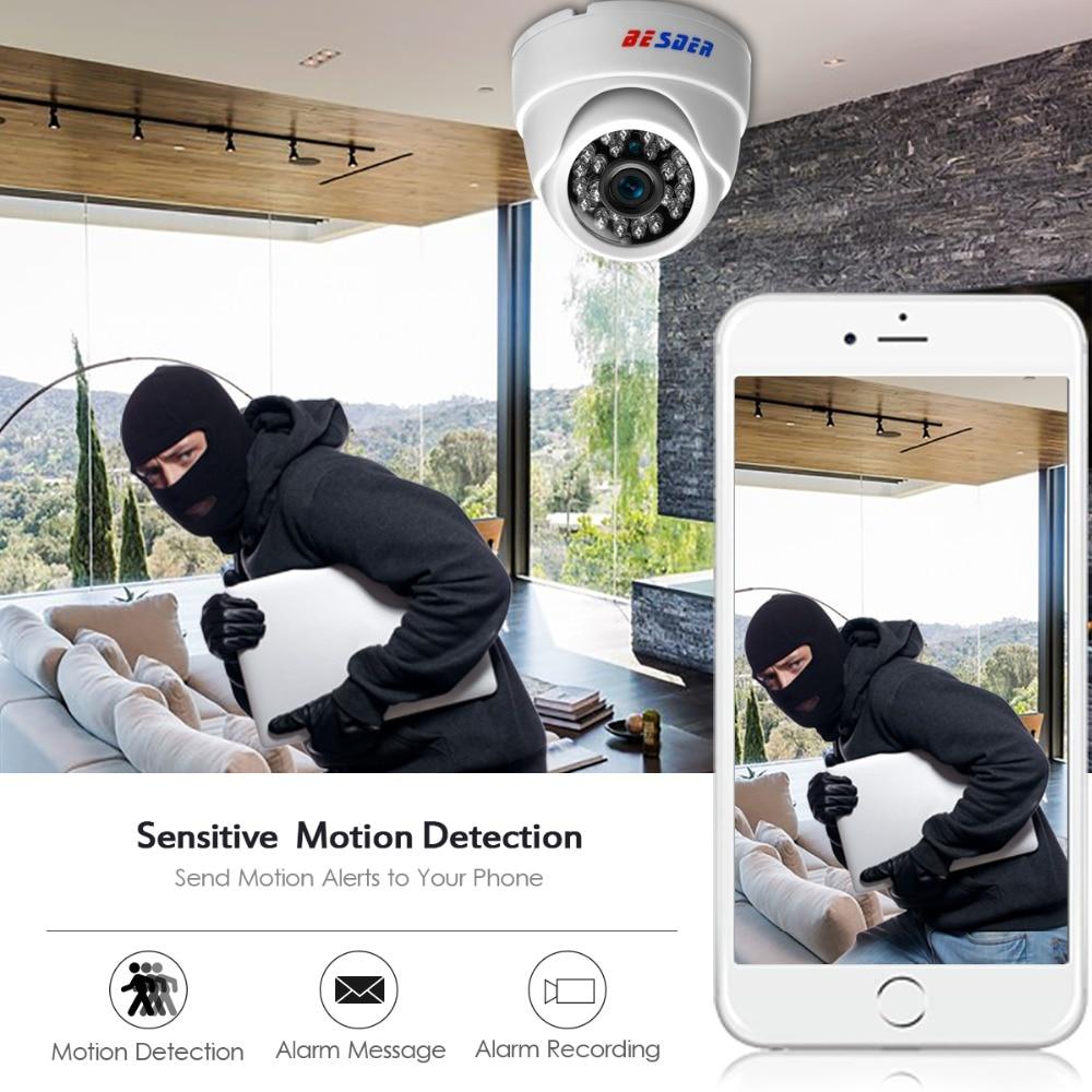 H 265 Full HD 1080P 1/2 8'' SONY IMX307 2Megapixel IP Camera IR Night  Vision Indoor Dome Security CCTV Camera Onvif XMEYE P2P