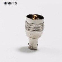 1pc  UHF male plug  switch  BNC female jack RF Coax Adapter convertor  Straight  Nickelplated  NEW wholesale