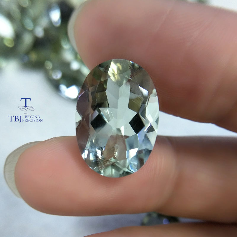 Tbj,11.5ct oval cut of Green amethyst 13*18mm for silver jewelry mounting,100% natural amethyst loose gemstones