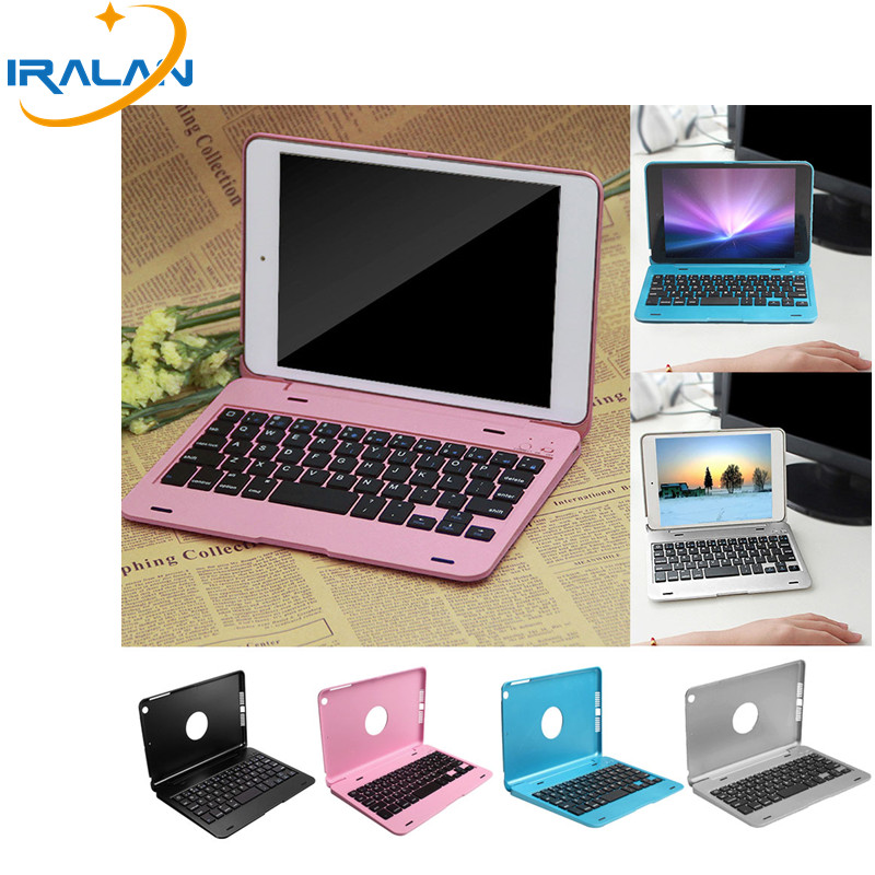 2018 Wireless Bluetooth Keyboard cover For Apple iPad Mini 1 2 3 7.9 inch Full Body Protective Portable Case+screen film+stylus aluminum alloy metal removable wireless bluetooth 3 0 keyboard stand leather case cover for apple ipad mini 1 2 3 7 9 inch table