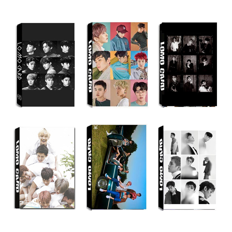 Kpop Exo Exact For Fife The War Power Of Music Universe Exodus Album Lomo Photo Card Hip Hop Self Made Paper Cards Photocard Beads & Jewelry Making