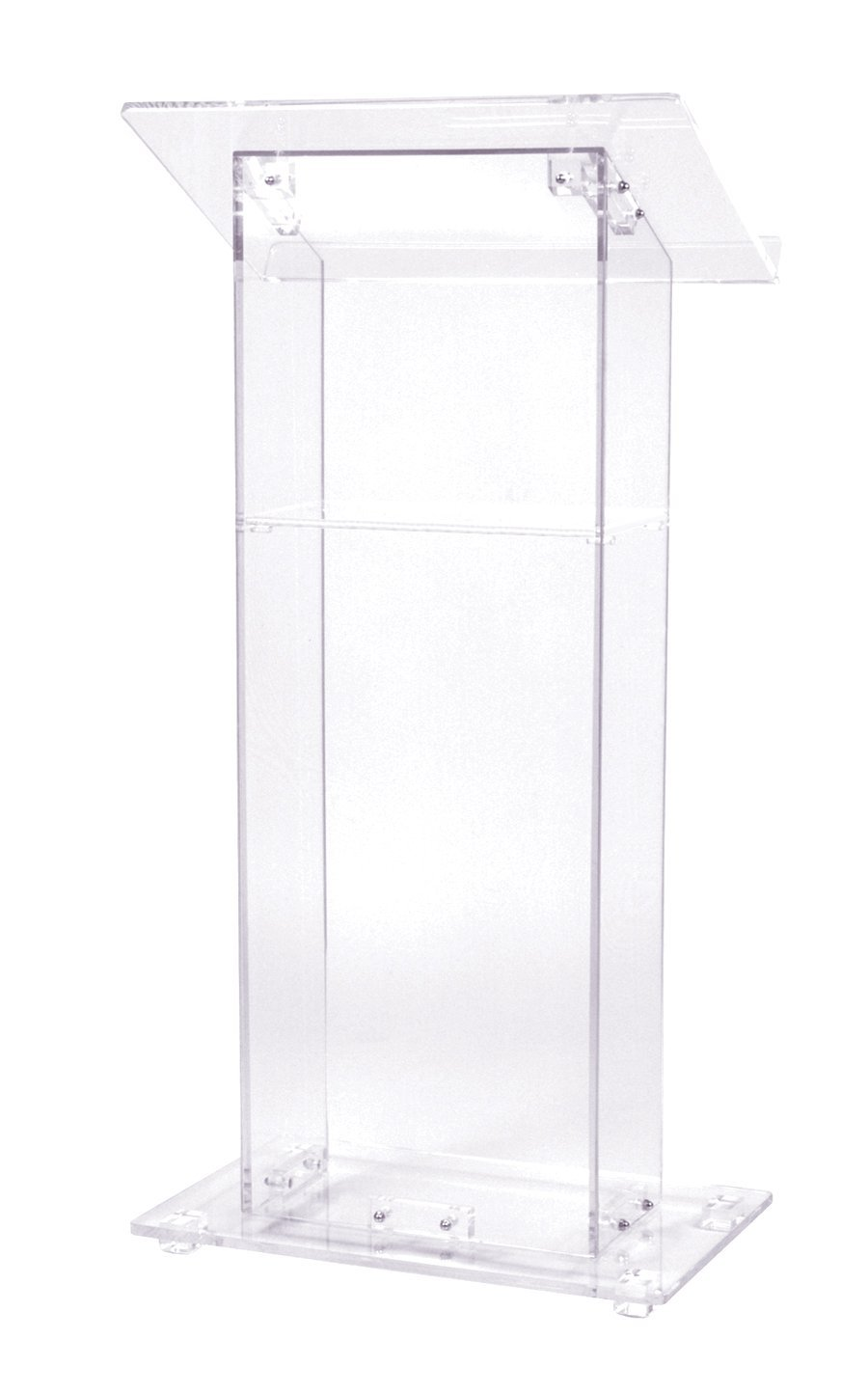 Acrylic Lectern With Shelf, Crystal Clear Decoration Table Podium Furniture Plexiglass