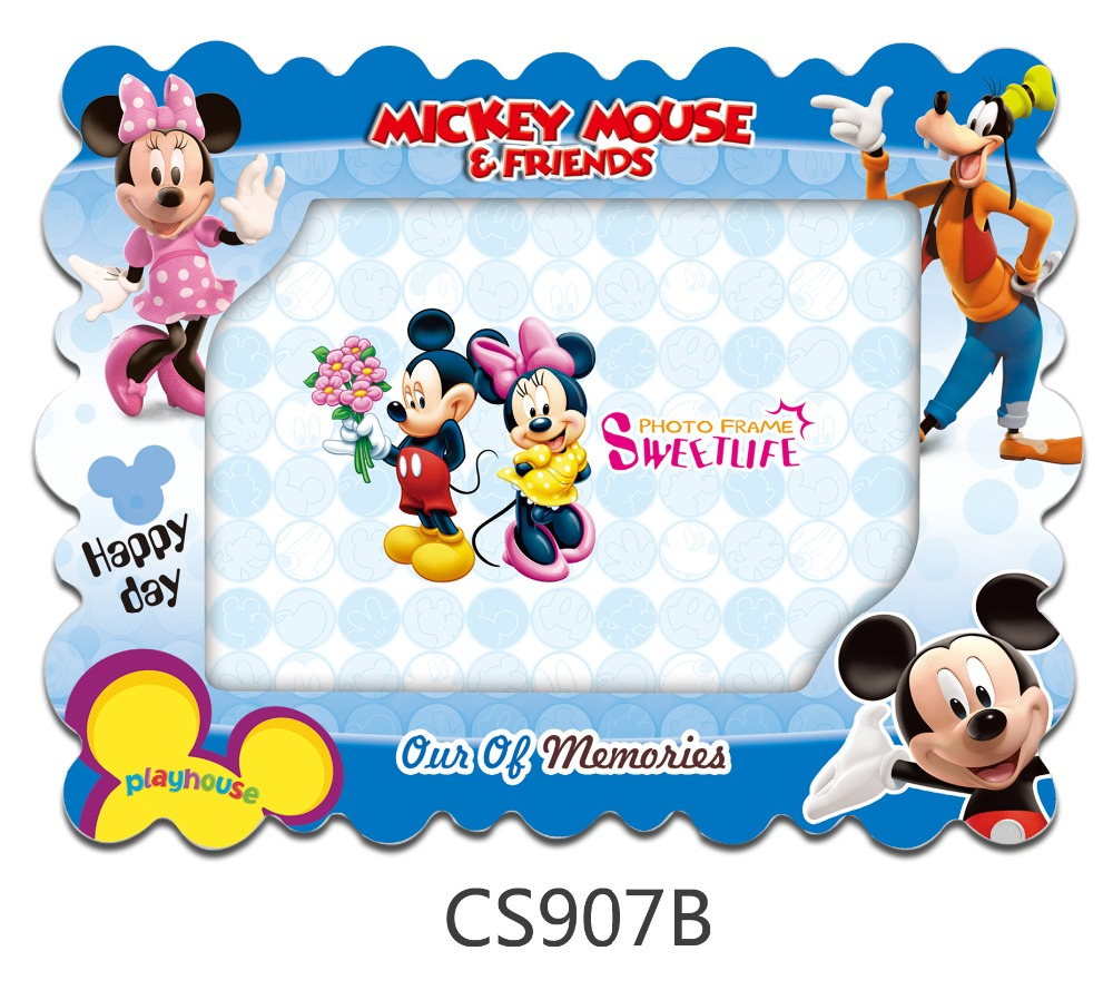 Disney Mickey 7 Inch Disney Mickey Mouse Cartoon Photo Frame Vertical And Horizontal Photo Frame Bedroom Decoration Gift For Kids Boys Girls In Frame From Home