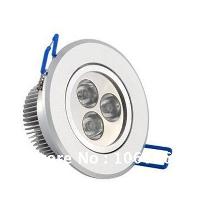 warm white / cold whiteRecessed 3w LED downlight ceilling light lamps 300-330lm 20pcs/lot free shipping DHL