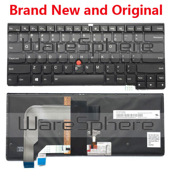 New Original US Backlit Keyboard For Lenovo ThinkPad T470S T460S 00PA534 SN20H42446 цена