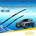 "Escovas Para HYUNDAI SANTA FE (2012-) 2013 2014 2015 2016 Car Windscreen Windshield Wiper Wiper Blade 26 ""+ 14"" carros estilo"
