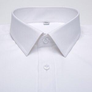 Image 2 - قميص رجالي طويل الاكمام مناسب بشكل قياسي قميص باتش واحد عالي الجودة مناسب للعمل الاجتماعي الابيض الرسمي قمصان مكتب