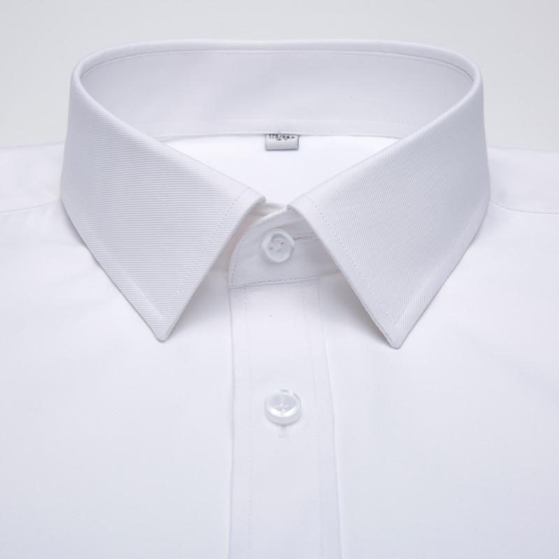 Image 2 - Mens Long Sleeve Standard fit Solid Basic Dress Shirt Patch Single Pocket High quality Formal Social White Work Office Shirtsdress shirtbusiness shirtshirt business -