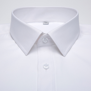 Image 2 - Mens Long Sleeve Standard fit Solid Basic Dress Shirt Patch Single Pocket High quality Formal Social White Work Office Shirts