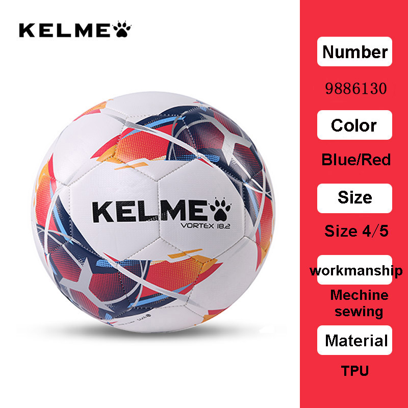 KELME Football Soccer Ball TPU Size 4 Size 5 Red Green Goal Team Match Training Balls 9886130