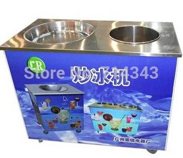 Manual single round pan with bucket Fried ice machine,flat ice cream pan maker machine,fry ice cream maker yogurt maker