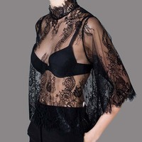 LOYCA Ladies Bubble Sleeve Tops 2016 Summer Chiffon Blouse Women Plus Size Blusa Femininas Fashion Shirt