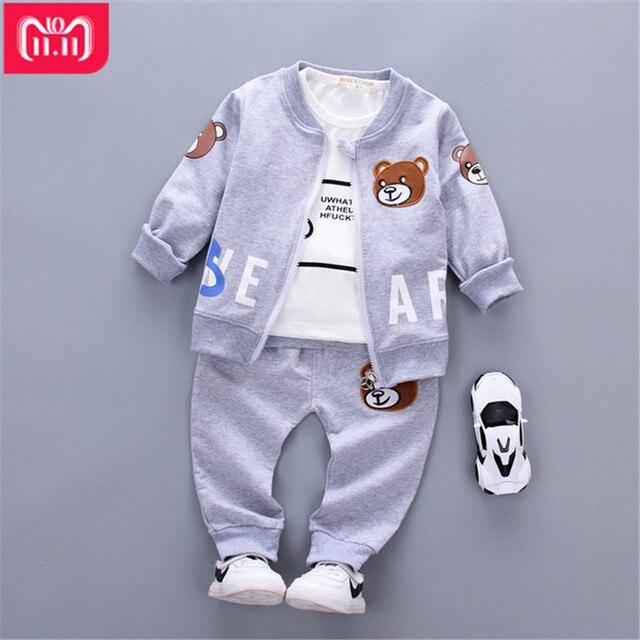 ef47497a1a3c winter baby Boys child clothing monkey 3pcs set Sport style Kids ...