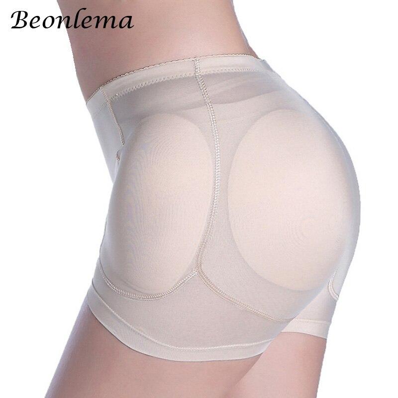 Beonlema sexy feminino 4 pçs almofadas realçadores falso ass hip bunda levantador shapers controle calcinha removível acolchoado emagrecimento roupa interior
