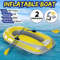 188*114CM 2 Person Thickening PVC Inflatable Boat Lake Dinghy Kayak Rubber Boat Pump Fishing Boat Sailboat With Oars Set Load