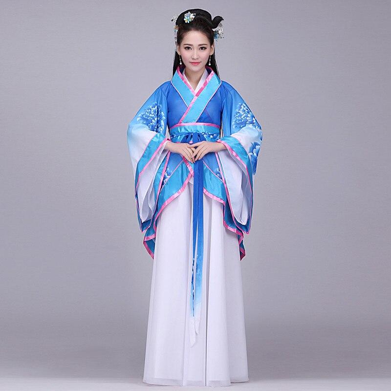 Traditionnel chinois Tang dynastie antique femmes Hanfu vestidos robe fée robes danse scène costumes pour chanteurs vêtements L214