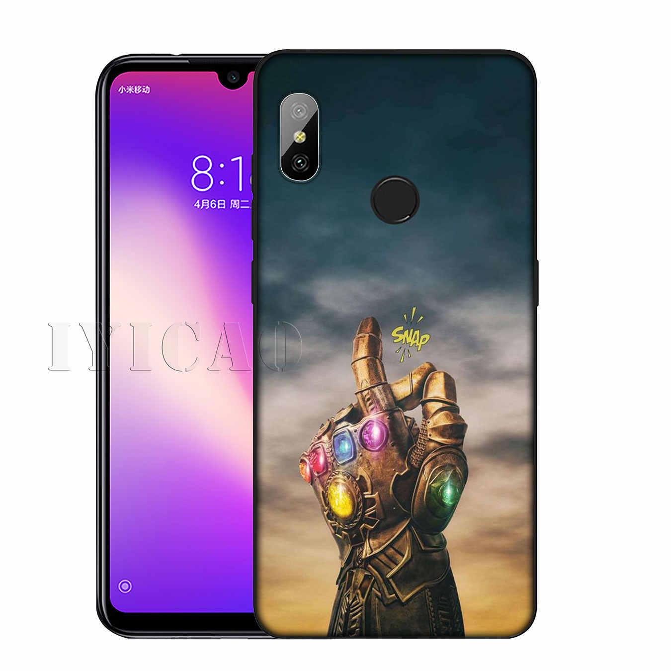 デッドプール Thanos さんアベンジャーズ Endgame Marvel アイアンマンキャプテンアメリカのソフト電話ケース xiaomi Redmi K20 8A 7A 6A 注 8 7 5 6 プロ